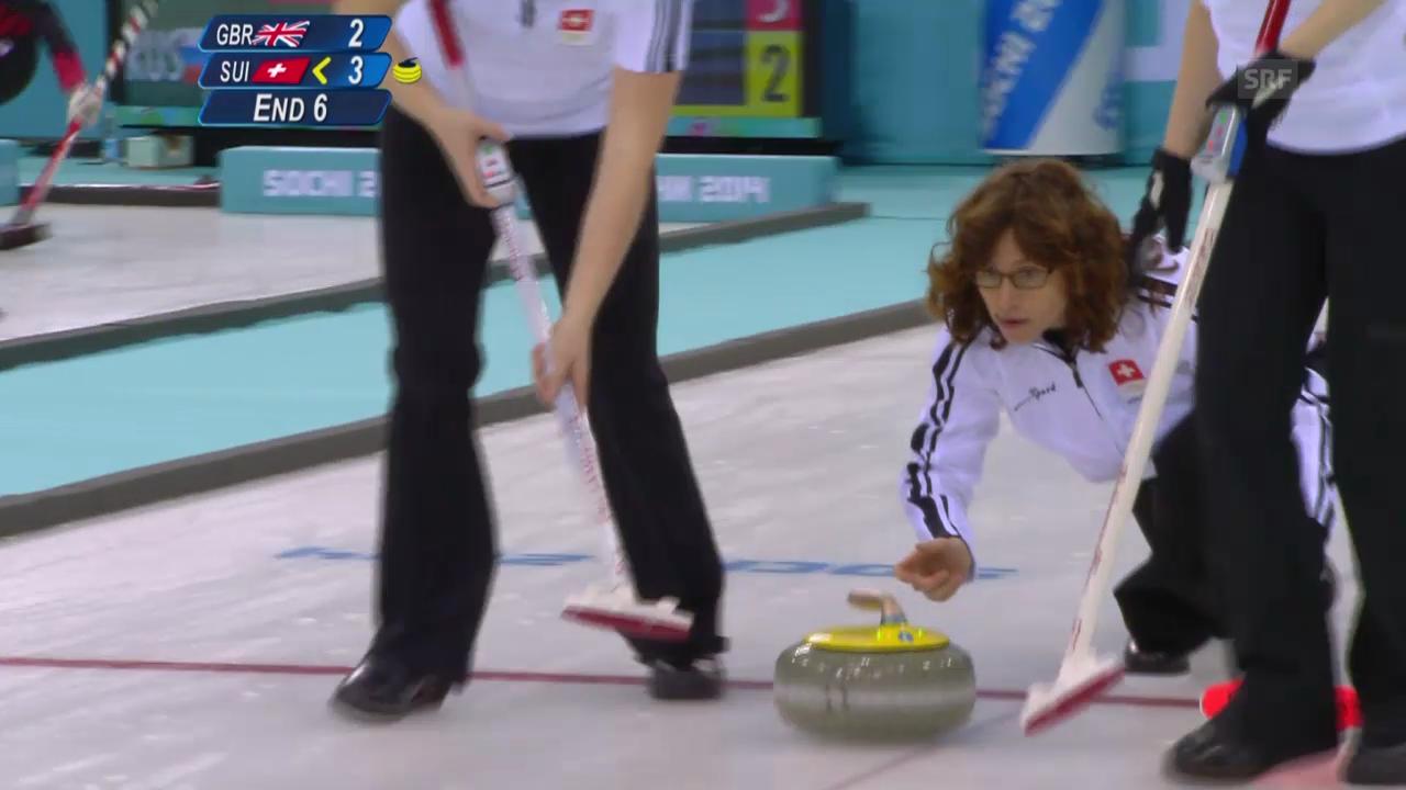 Curling: Zusammenfassung Schweiz - Grossbritannien (15.02.2014)