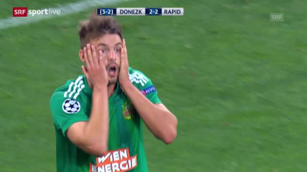 Video «Fussball: Champions League, Donezk - Rapid» abspielen