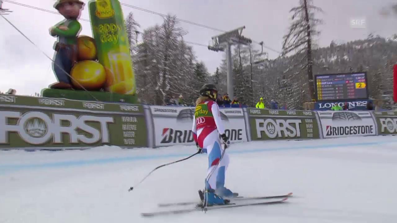 Ski: Super-G Cortina, Fahrt Lara Gut
