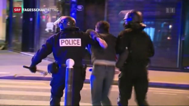 Video «Proteste in Paris eskalieren» abspielen