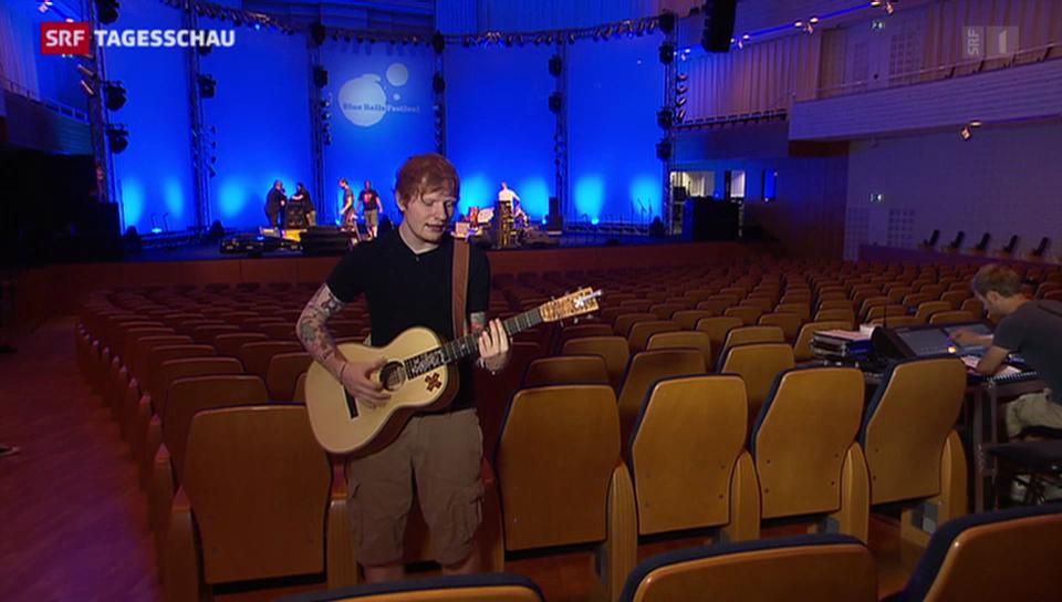 Ed Sheeran eröffnet Blue Balls Festival