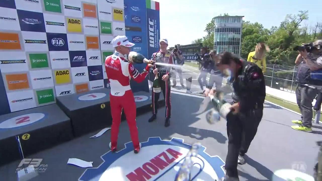 Mick Schumacher erstmals auf dem Formel-3-Podest (Quelle: sntv)