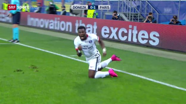 Video «Fussball: CL, Donezk - Paris St-Germain» abspielen