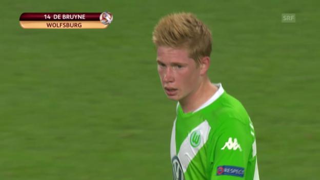 Video «Fussball: Europa League, Tore Wolfsburg-Lille» abspielen