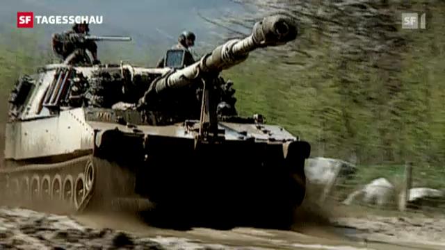 Im ersten Halbjahr 2012 ist deutlich mehr Kriegsmaterial exportiert worden. (Tagesschau 16.8.2012, 19:30 Uhr)