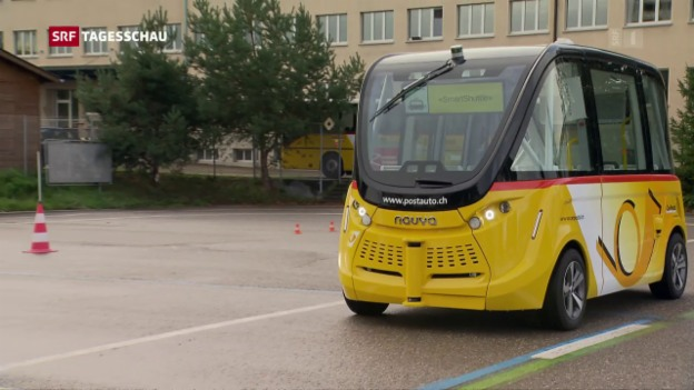 Video «Selbstfahrende Busse kommen gut an» abspielen
