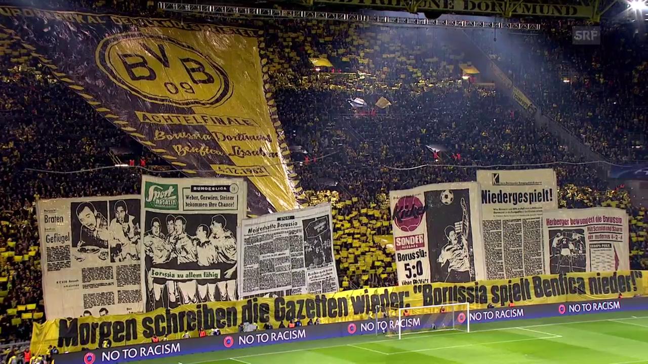 Choreo der Dortmunder Südtribüne