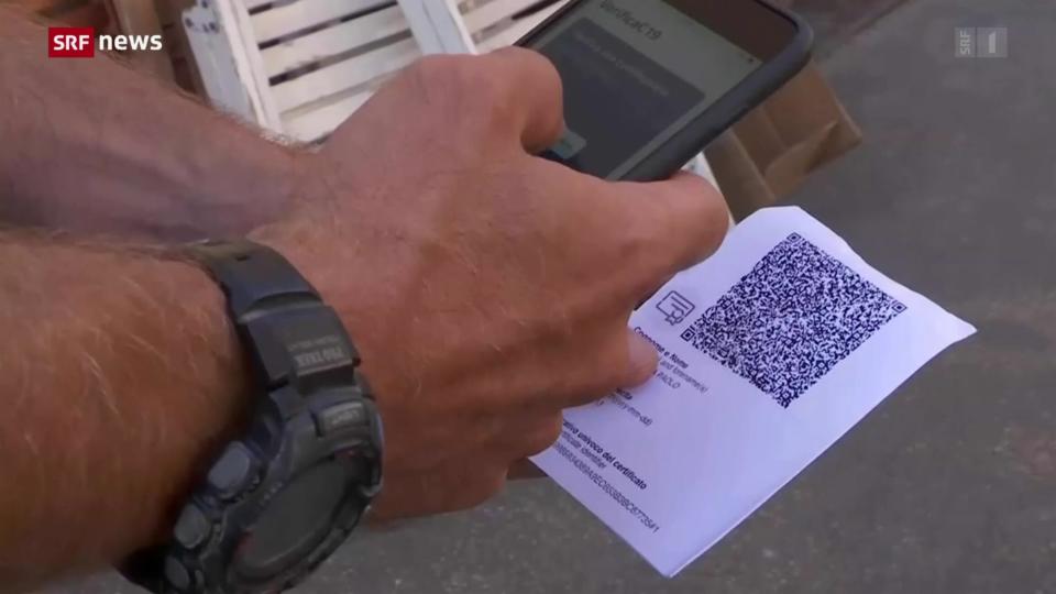 In Italien gilt die Zertifikatspflicht auch am Arbeitsplatz