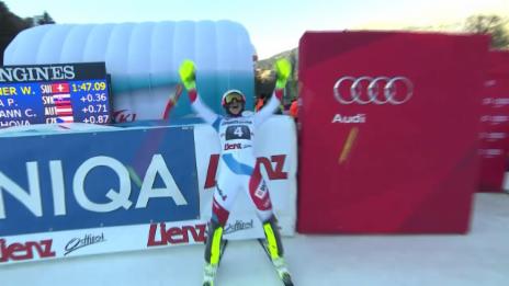Video «Ski Alpin: 2. Lauf Holdener» abspielen