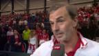 Video «Heinz Günthardt im Platzinterview: «Das 1:1 fühlt sich wie ein kleiner Sieg an»» abspielen