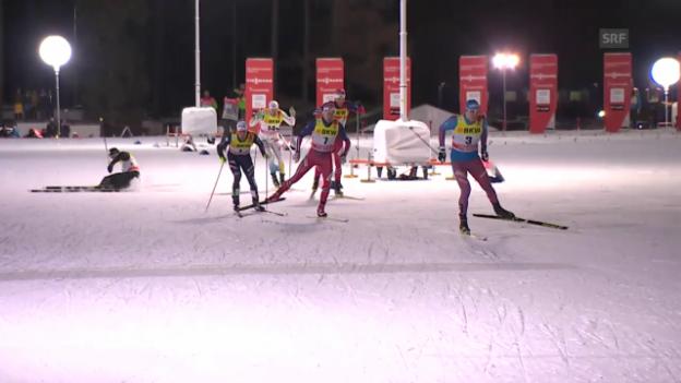 Video «Langlauf: Tour de Ski, 1. Etappe Sprint, Tagesschau-Beitrag» abspielen