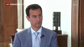 Video «Die «Rundschau» im Interview mit Syriens Diktator Assad» abspielen