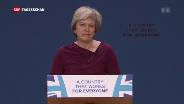 Video «Theresa May fordert harten Schnitt» abspielen