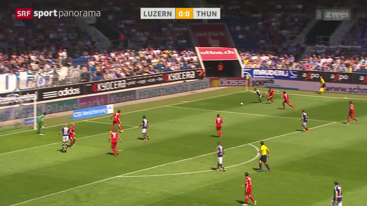Fussball: Luzern - Thun