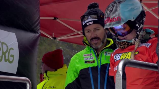 Video «Snowboard: Weltcup Winterberg, Parallelslalom, Viertelfinal Zogg» abspielen