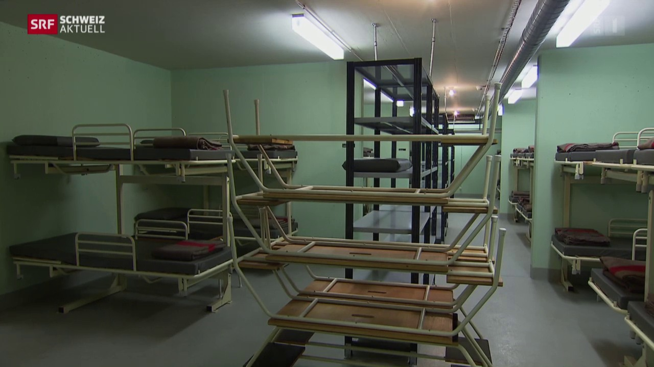 Flüchtlinge ziehen ins Notfallspital