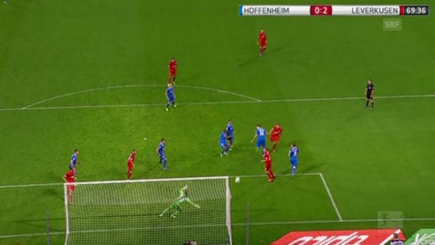 Video «Das «Phantomtor» von Leverkusen in Hoffenheim» abspielen