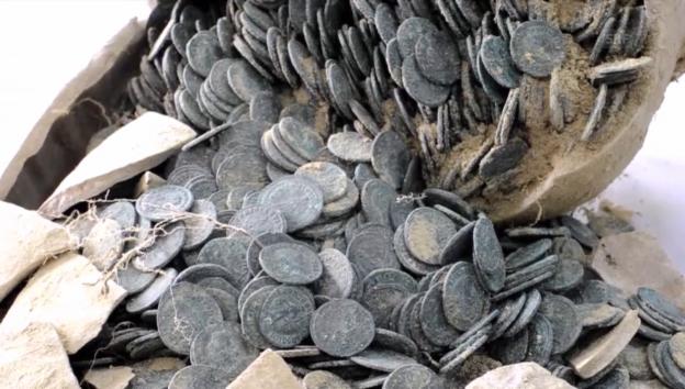 Video «Münzen aus dem Römischen Reich gefunden (unkomm.)» abspielen