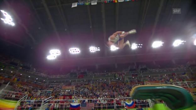 Video «Versuch gescheitert: Radiwilows vierfacher Salto» abspielen