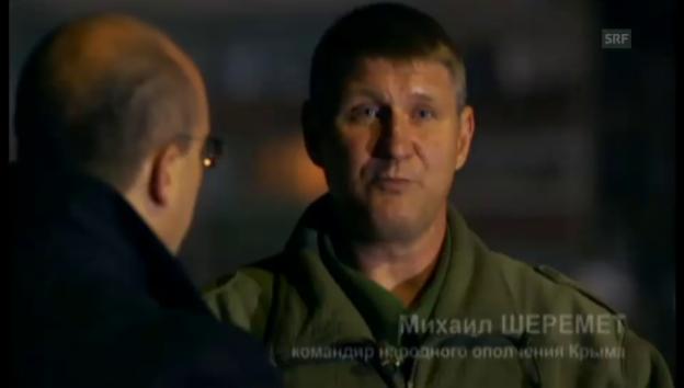 Video «Krim-Milizkommandant über Heimaterde und Faschisten» abspielen