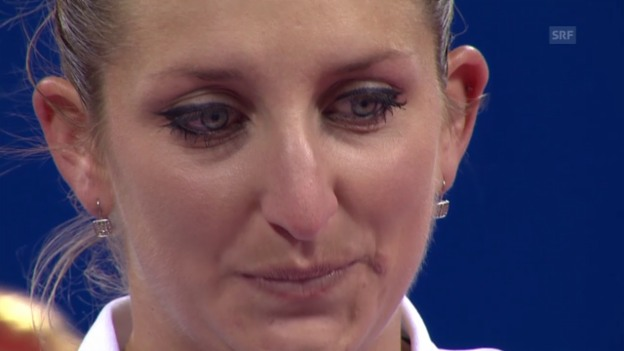 Video «Tennis: Emotionale Rede von Bacsinszky» abspielen