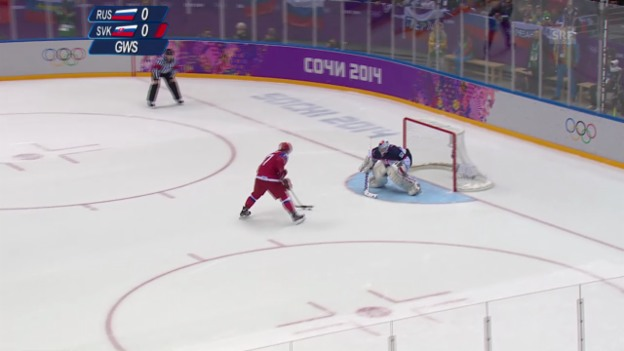 Video «Eishockey: Russland - Slowakei, Penaltyschiessen (sotschi direkt, 16.02.2014)» abspielen