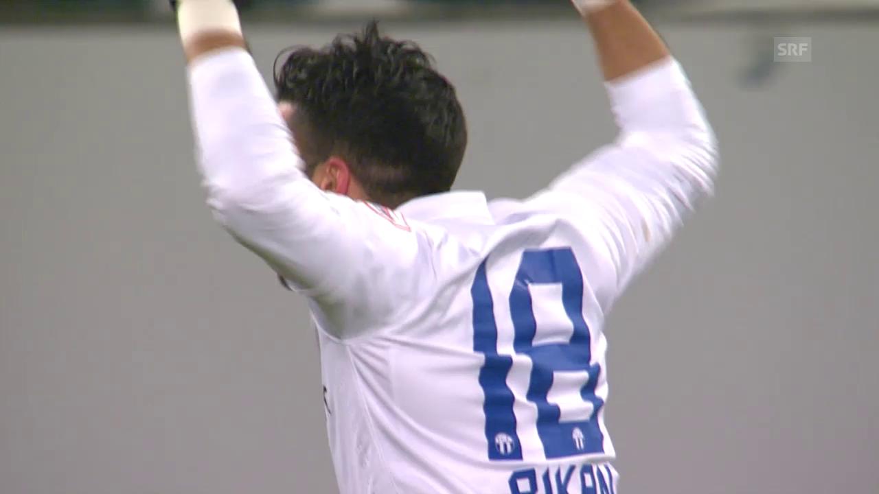 Fussball: St. Gallen - Zürich, das 3:0 durch Rikan