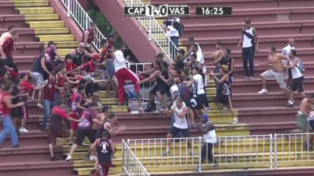 Video «Brutale Ausschreitungen in Brasiliens Top-Liga» abspielen
