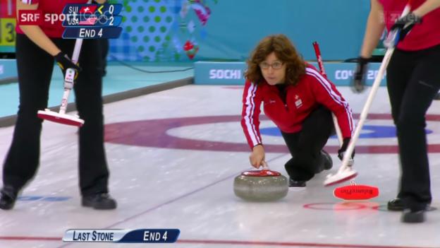 Video «Curling: Die Schweizer Frauen gegen die USA» abspielen