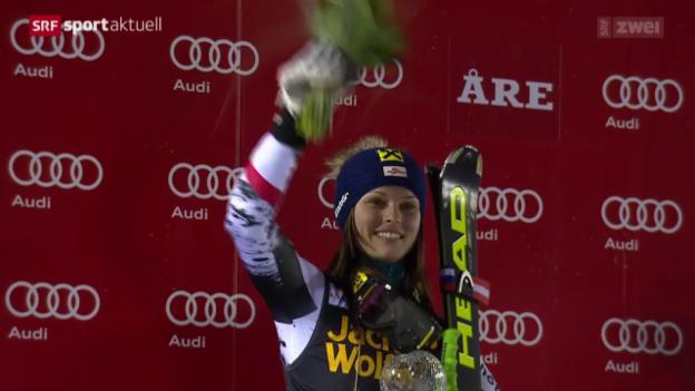 Video «Ski Alpin: Riesenslalom Are» abspielen