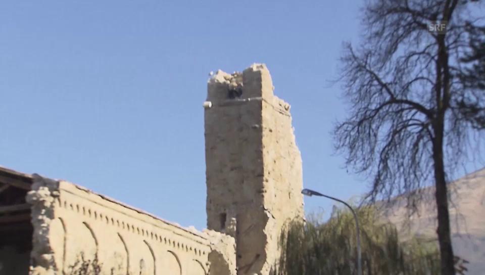 Heftige Zerstörungen in Umbrien