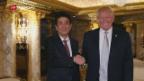 Video «Abe zu Besuch bei Trump» abspielen
