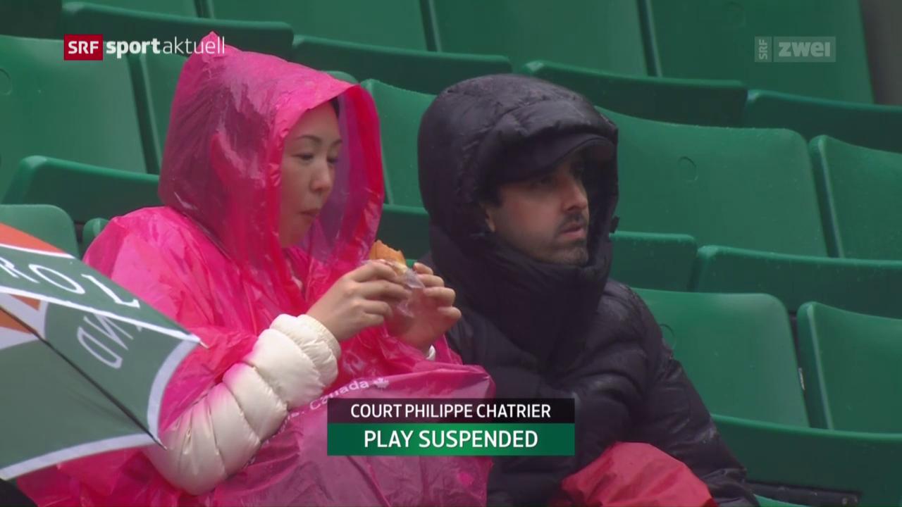 Ein Regentag an den French Open