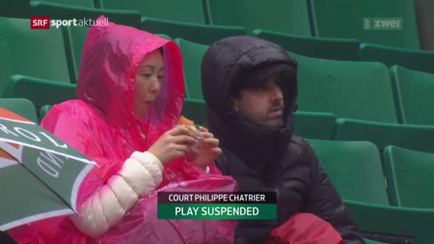 Video «Ein Regentag an den French Open» abspielen