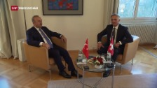 Video «Besuch des türkischen Aussenministers» abspielen