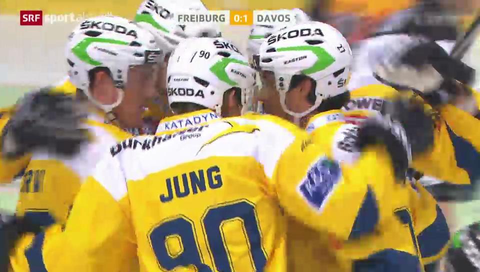 Der Treffer von Sven Jung gegen Fribourg-Gottéron