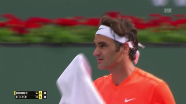 Video «Tennis: Final Indian Wells, Djokovic - Federer» abspielen