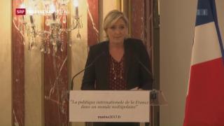 Video «Le Pen: Der Ton wird noch schärfer» abspielen