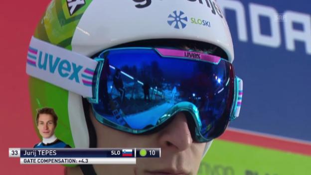 Video «Skispringen: Weltcup Willingen, Sprung Tepes» abspielen