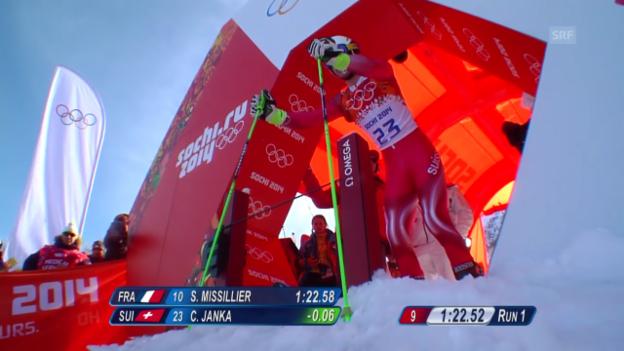 Video «Ski: Riesenslalom Männer Sotschi, 2. Lauf von Carlo Janka (sotschi direkt, 19.2.14)» abspielen