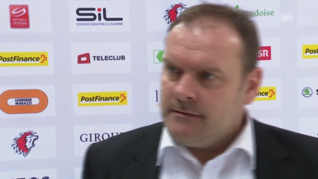 Video «Eishockey: Interview mit Lausanne-Coach Ehlers («sportlive», 13.3.14)» abspielen