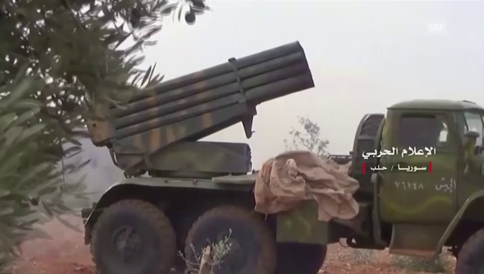 Regime fährt schweres Geschütz auf