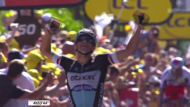 Video «Rad: Tour de France 2015, 6. Etappe» abspielen