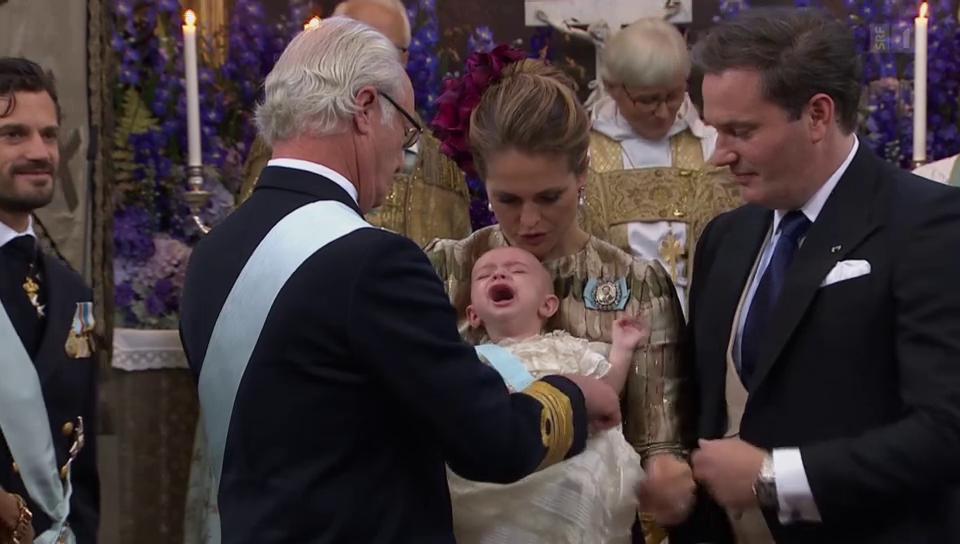 «Not amused»: Prinz Nicolas findet Taufe nicht so lässig
