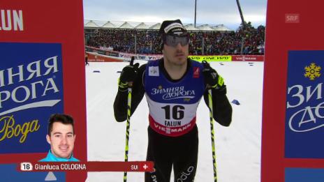 Video «Langlauf: Der Viertelfinal von Gianluca Cologna» abspielen
