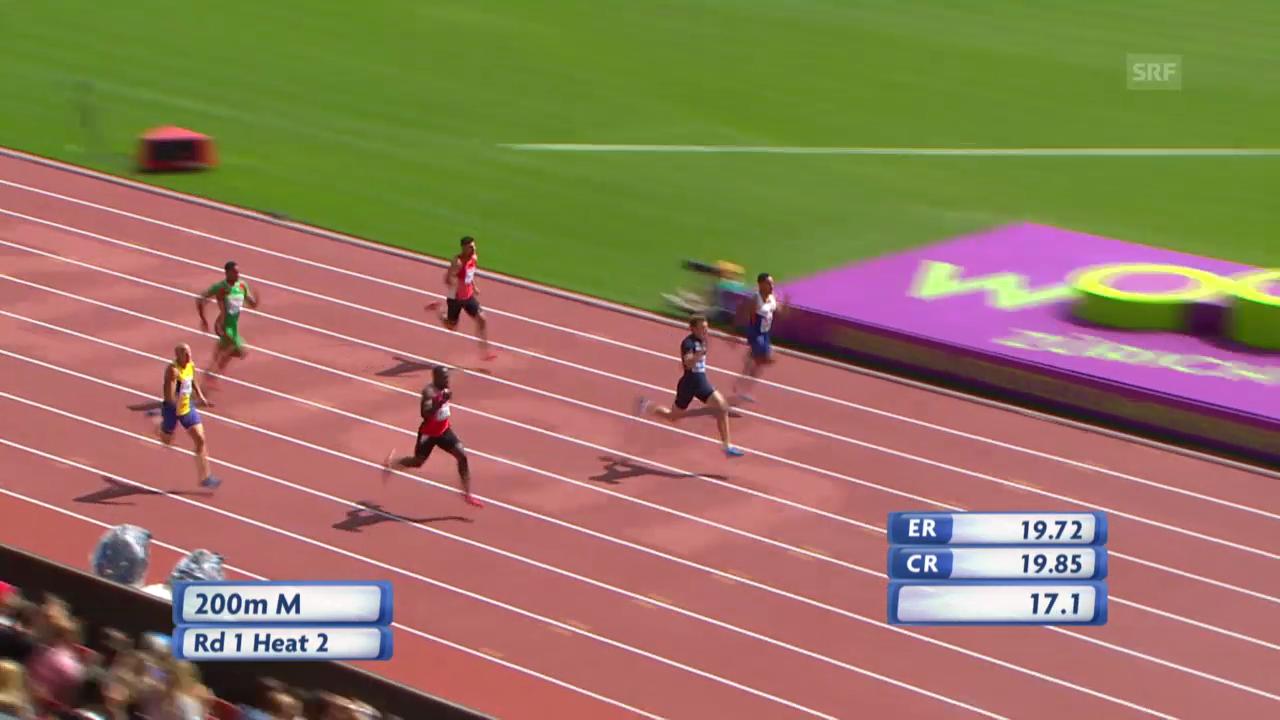 200 m Männer: Wilson erreicht den Halbfinal