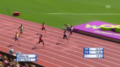 Video «200 m Männer: Wilson erreicht den Halbfinal» abspielen