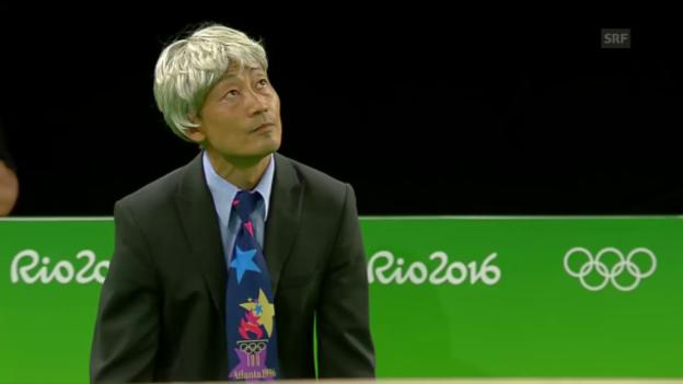 Video «Donghua Li sorgt für Spektakel beim Showturnen» abspielen
