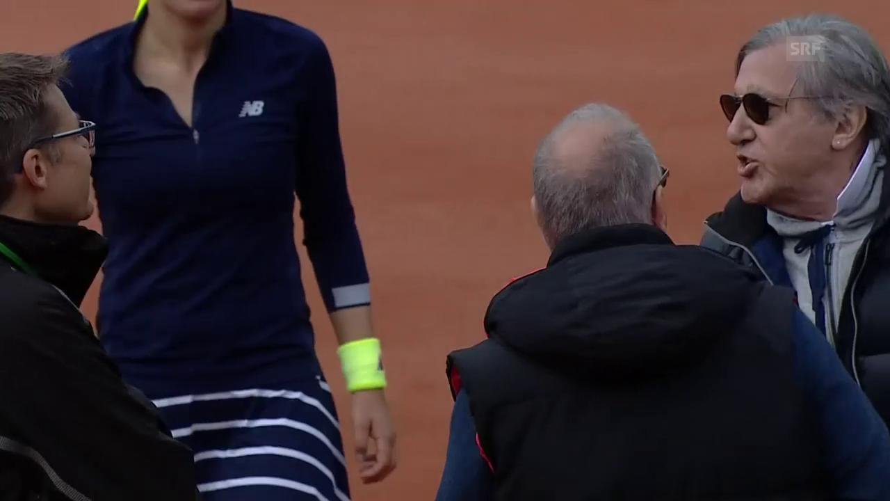 Nastase verliert im Fed Cup die Beherrschung (SNTV)