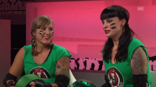 Video «Vorschau: Zürich City Rollergirlz bei «Aeschbacher»» abspielen